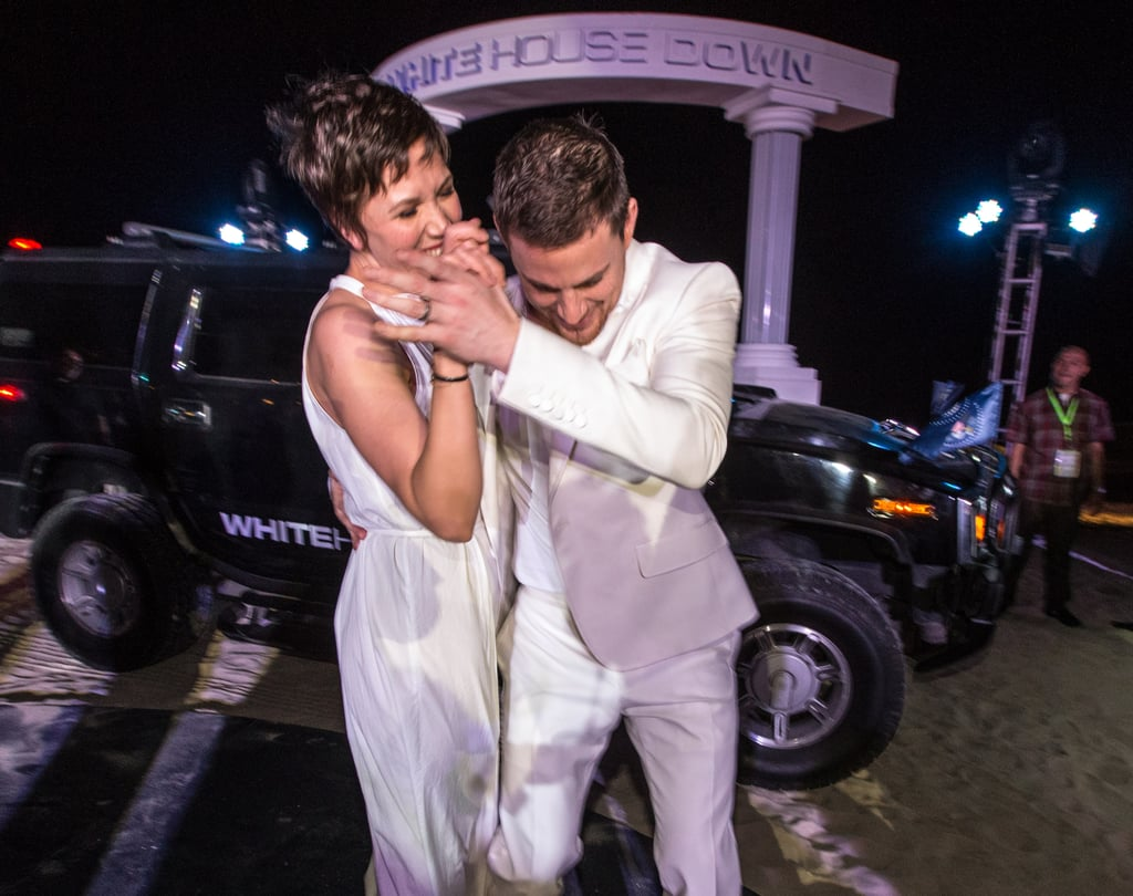 Channing Tatum took his costar Maggie Gyllenhaal out on the dance floor at the Summer of Sony party in Cancun, Mexico, in April.