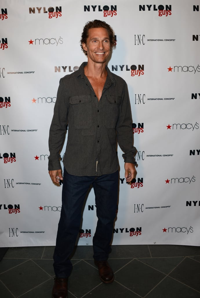 Matthew McConaughey wore a button-down and jeans.