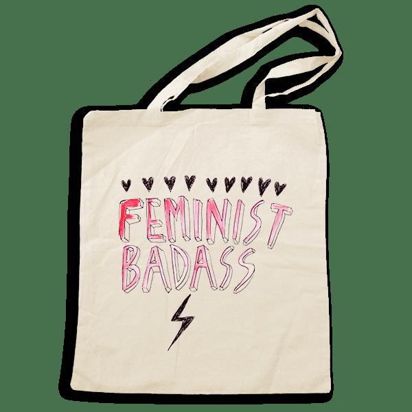 """Feminist Badass"" Tote Bag"
