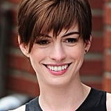 In the past year, Anne Hathaway cut off her hair and even coloured it blond, but her current chocolate hue is the shade we love the most.
