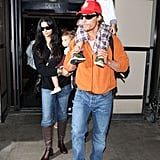 Matthew McConaughey and Camila Alves Touch Down With Levi and Vida
