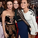 The girls of Grey's Anatomy — Caterina Scorsone, Sarah Drew, and Camilla Luddington— had a ball together on the red carpet.