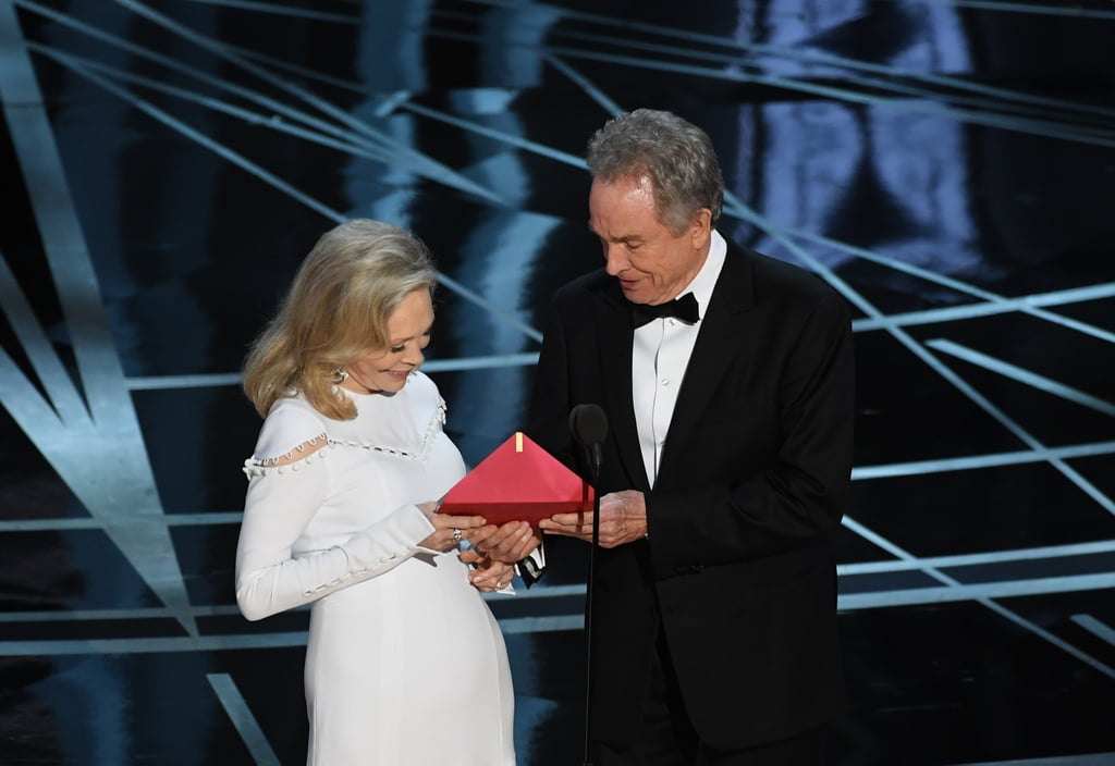 "First, you knew something was wrong when Faye Dunaway and Warren Beatty seemed really confused after they opened the envelope. Now we know why — it said ""Emma Stone, La La Land,"" according to Beatty."