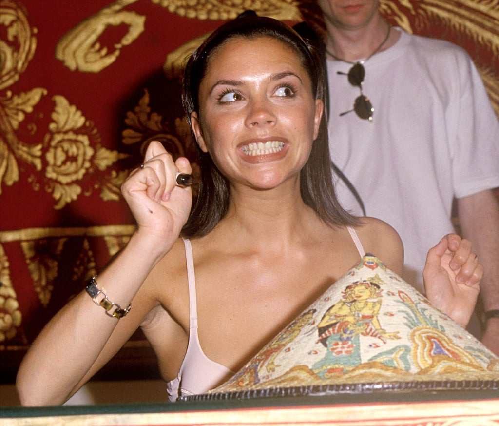 She may have mastered the art of the moody photo pose over the years, but we know for a fact that Victoria Beckham has a brilliant sense of humour. We occasionally see her silly side come out on Instagram, but in these brilliant throwback photos from a 1997 trip to Bali, Indonesia, with the Spice Girls, the then-21-year-old really lets loose, and they're getting us super excited about that rumoured reunion tour! Victoria Adams wasn't quite as skilled at constantly keeping that posh pout on her face as her older self. Breaking out into goofy grins, gurning for the camera, and looking like she was having the time of her life, 20-something Victoria looked like the kind of girl we'd like to hang out with. And while we adore the chic style icon she's now become, we can't help but secretly wish that the carefree, silly side we saw 20 years ago came out a bit more often. Could 2018 be the year?!
