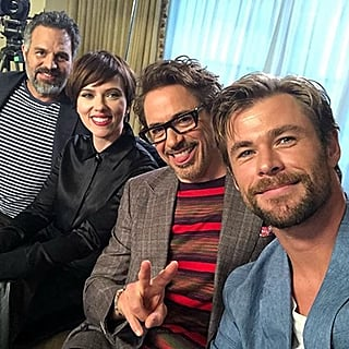Avengers Cast Instagram Pictures