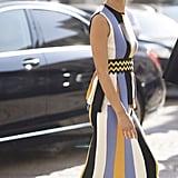 Nicole Warne at Milan Fashion Week