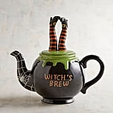 Hand-Painted Witch's Brew Halloween Teapot