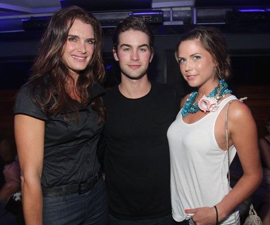 Slide Photo of Chace Crawford, Brooke Shields, Erin Lucas at Blackberry Tour Launch Party