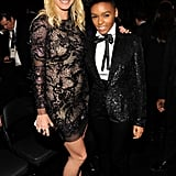 She met up with Janelle Monae in the audience at the Grammys in February 2011.