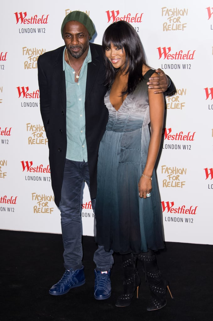 Naomi Campbell and Idris Elba stepped out for the Fashion For Relief launch party in London on Thursday.