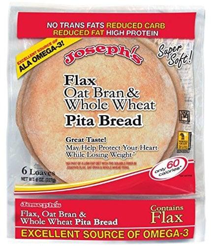 Joseph's Flax, Oat Bran, and Whole-Wheat Flour Pita Bread