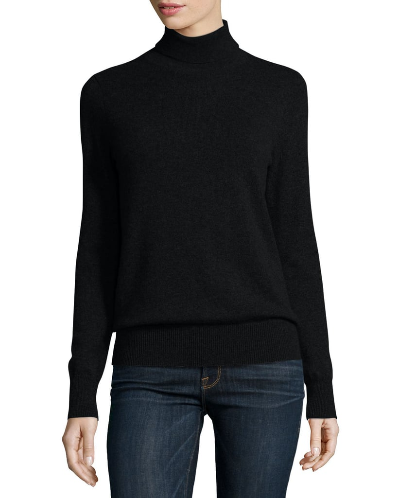 Neiman Marcus Classic Long-Sleeve Cashmere Turtleneck | Best ...