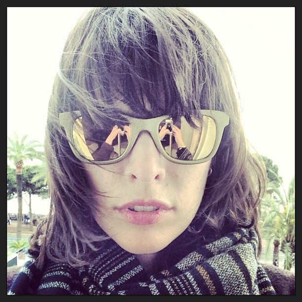 Milla Jovovich showed off a rad pair of mirrored sunglasses during the Cannes Film Festival. Source: Instagram user millajovovich