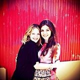 Victoria Justice posted this photo of herself with Drew Barrymore. Source: Instagram User victoriajustice