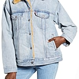 Levi's Oversize Reversible Faux Fur & Denim Trucker Jacket