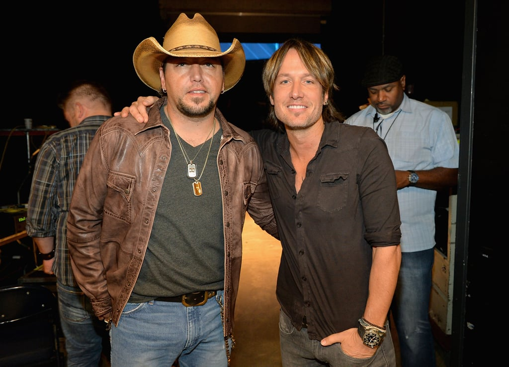 Jason Aldean and Keith Urban met up backstage.