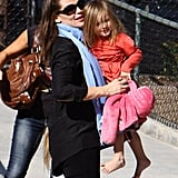 Jennifer Garner played with Seraphina at an LA park in December 2011.