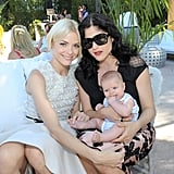 Jaime King and Selma Blair struck a sweet pose with baby Arthur Bleick.
