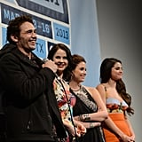 James Franco, Rachel Korine, Ashley Benson, and Selena Gomez laughed during a Q&A session at SXSW.