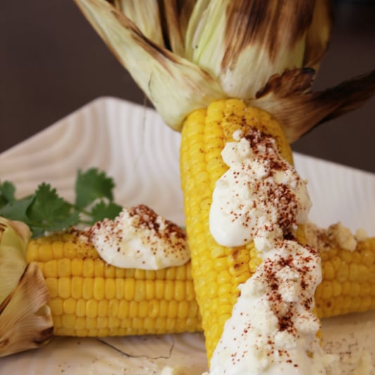 Mexican Grilled Corn Recipe With Crema, Cheese, and Chile