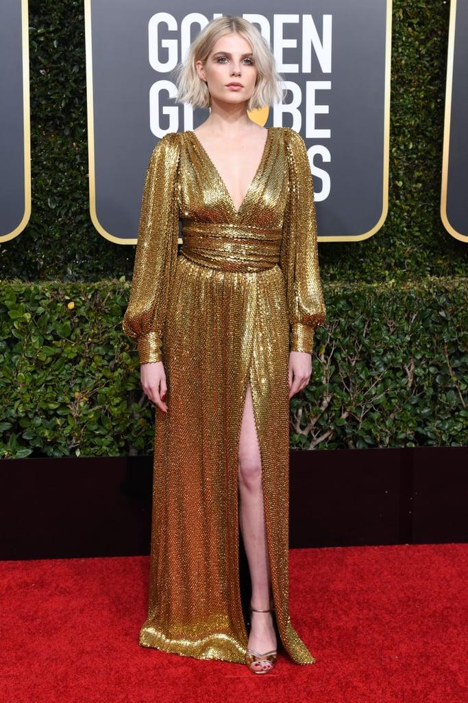 Lucy Boynton at the 2019 Golden Globes