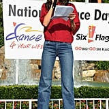 Katie Holmes supports National Dance Day.