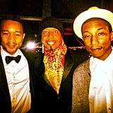 John Legend, MC Hammer, and Pharrell Williams posed together at the Inaugural Ball. Source: Instagram user mchammer