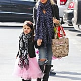 Sarah Michelle Gellar walked her daughter, Charlotte Prinze, into ballet class in LA on Saturday.