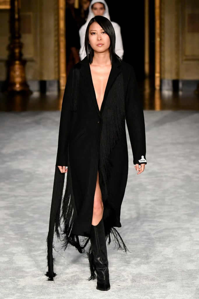 Christian Siriano's Thrifted Wool Coat on the Runway