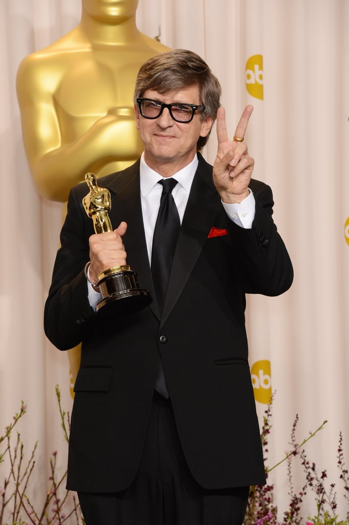 Rick Carter posed with his Oscar for best production design.