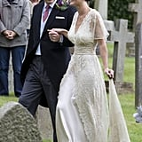 Kate Middleton Attends a Friend's Wedding With Her Family