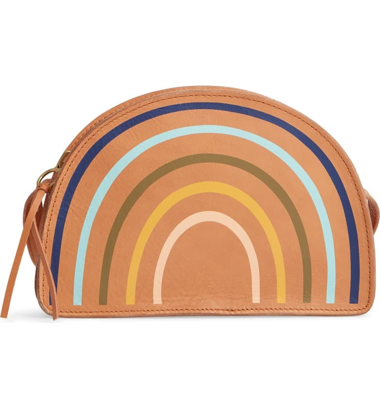 59838186 Madewell The Simple Half-Moon Rainbow Edition Leather Crossbody Bag ...