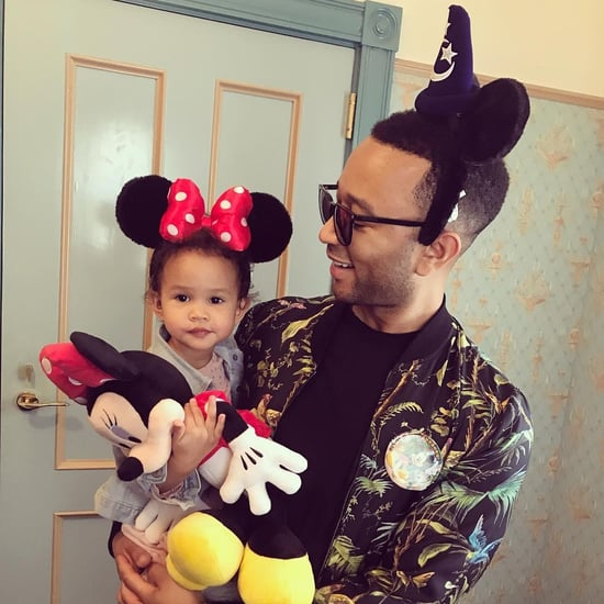 Chrissy Teigen, John Legend and Luna at Disneyland Hong Kong