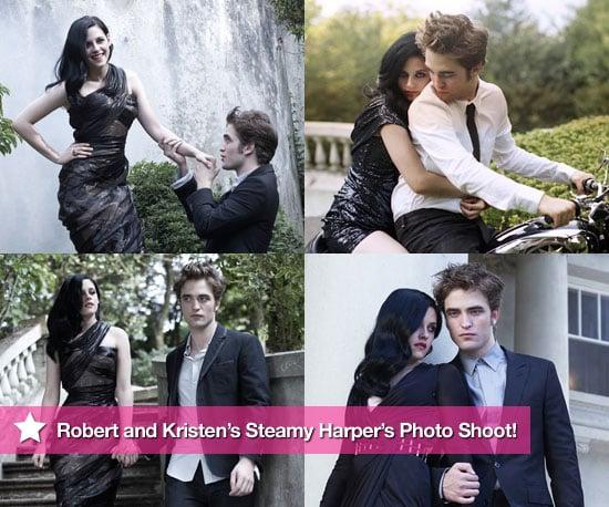 Sneak Peek at Robert and Kristen's Steamy Harper's Photo Shoot!