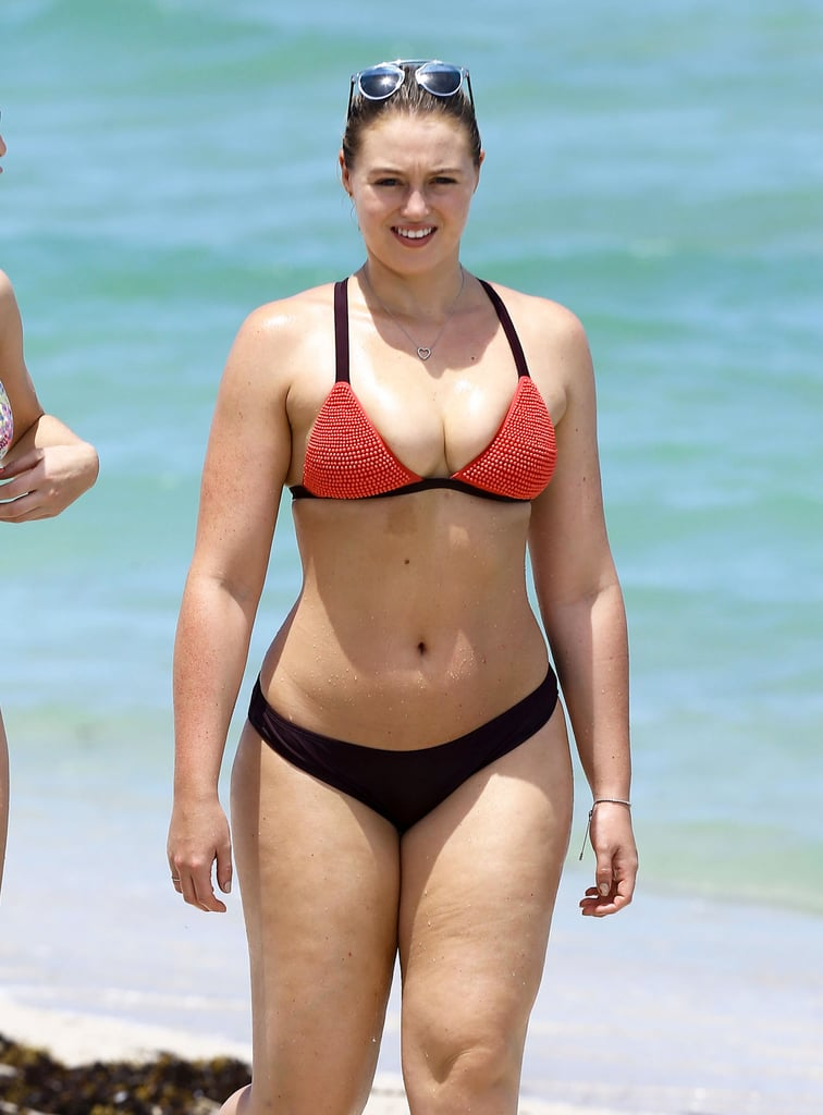 Iskra Lawrence in a Bikini on the Beach in Miami July 2016
