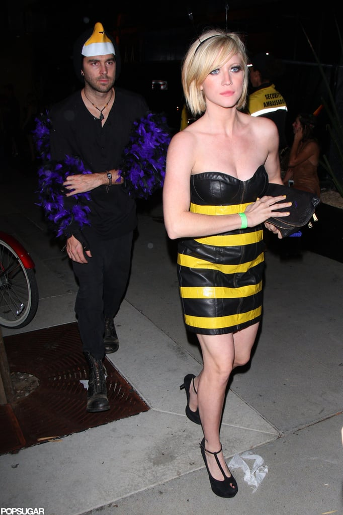 Brittany Snow wore a bumblebee costume for a party at Bootsy Bellows in LA in 2012.