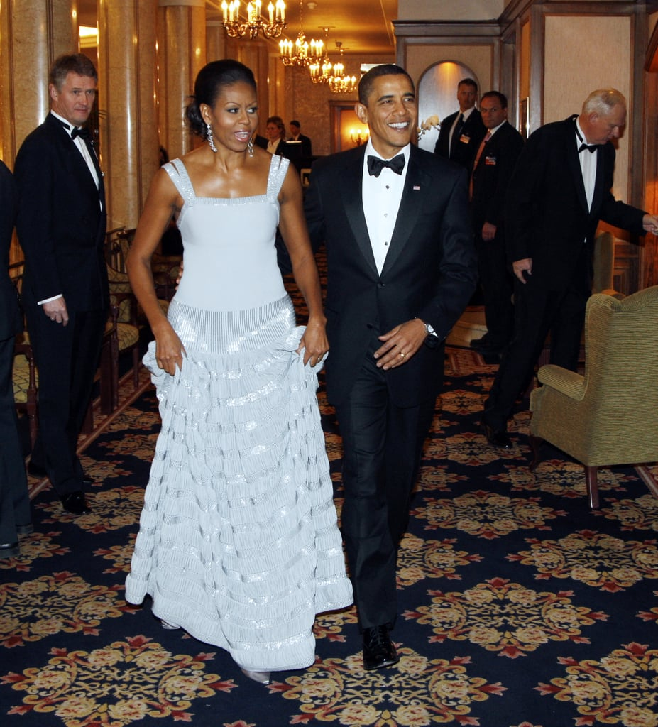 Wearing an Azzedine Alaia gown at the Nobel Banquet in Oslo, Norway, in 2009.