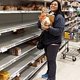 People prepared for the storm by stocking up.
