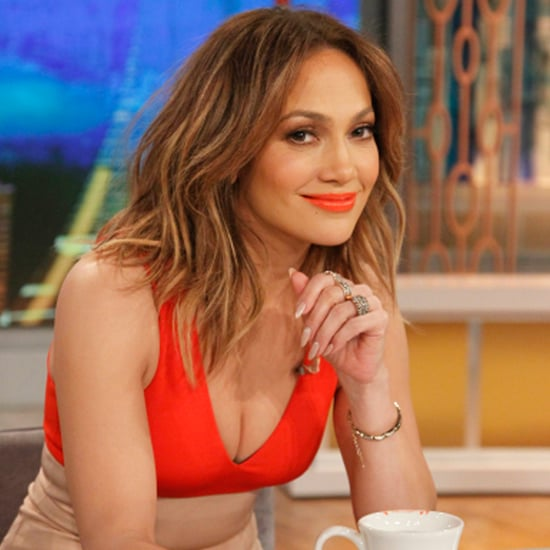 Jennifer Lopez Wears Orange Lipstick