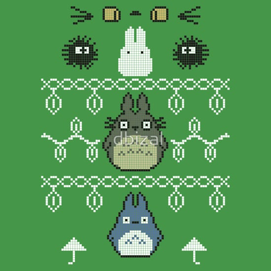 Totoro Christmas | Geeky Ugly Christmas Sweaters | POPSUGAR Tech ...