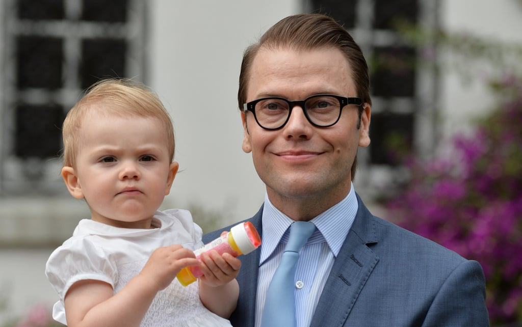 Princess Estelle and her dad were on hand to celebrate her mom's birthday.