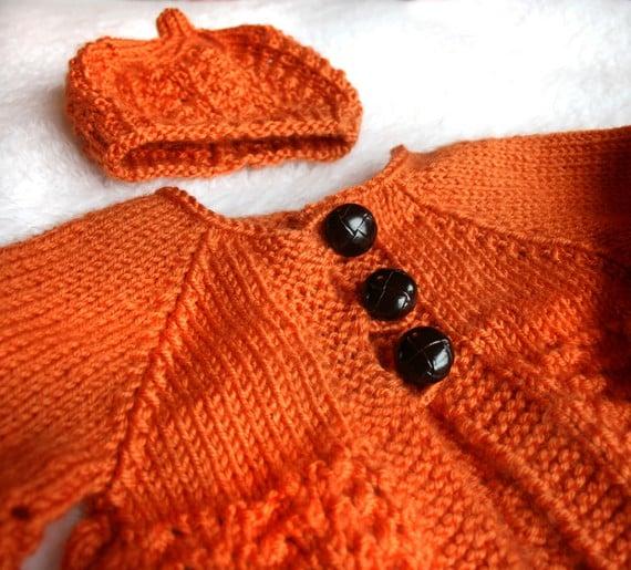 pumpkin sweater and cap