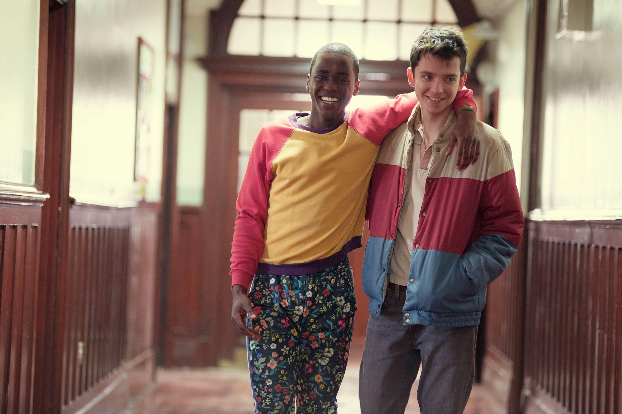 SEX EDUCATION, from left: Ncuti Gatwa, Asa Butterfield, (Season 1, ep. 104, airs Jan. 11, 2019). photo: Sam Taylor / Netflix  / Courtesy: Everett Collection