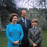 Queen Elizabeth II, Prince Philip, and Prince Edward in 1976.