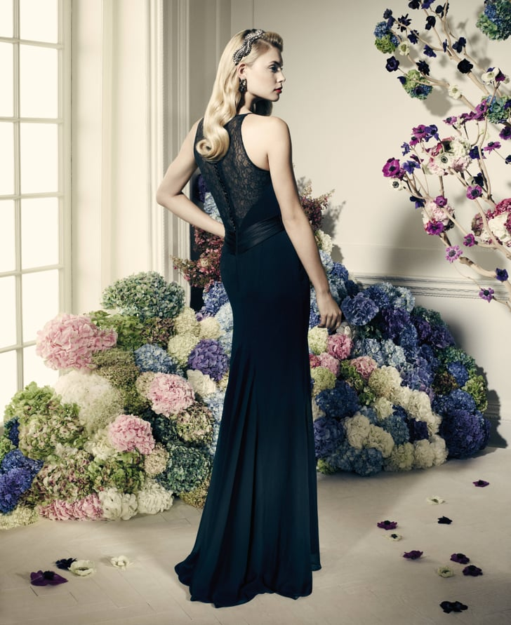 Db Studio Wedding Gowns: Truly Zac Posen Long Black Dress With Lace Back
