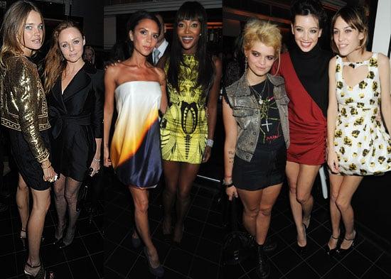 Photos Of Victoria Beckham, Agyness Deyn, Alexa Chung, Naomi Campbell, Daisy Lowe, Pixie Geldof At London Fashion Week Dinner