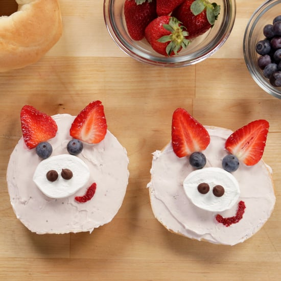 Strawberry Pig Bagels