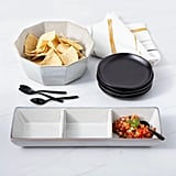 Stoneware Reactive Divided Serving Tray