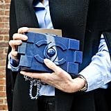 This blue Chanel bag was a work of art in its own right.
