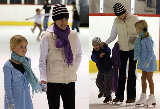 Reese Witherspoon Ice Skating with Ava and Deacon